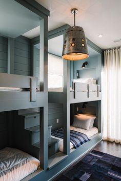 30 Bunk Beds for Four Kids - Interior Design Bedroom Ideas On A Budget Check more at http://billiepiperfan.com/bunk-beds-for-four-kids/