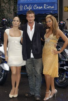 JLo, David Beckham and Bey