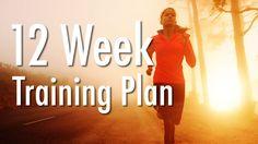 12-week half marathon training schedule for running the 13.1-mile race distance, designed for beginning/novice runners.