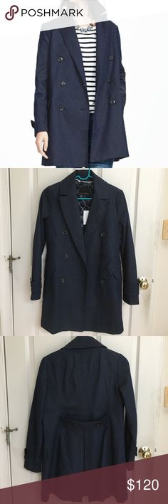 Banana Republic Trench Coat BRAND NEW, never been worn! Dark denim trench coat. Banana Republic Jackets & Coats Trench Coats