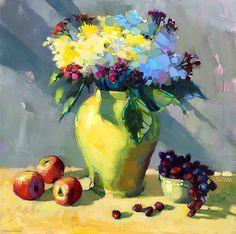 Jardiniere by Trisha Adams Oil ~ 30 x 30