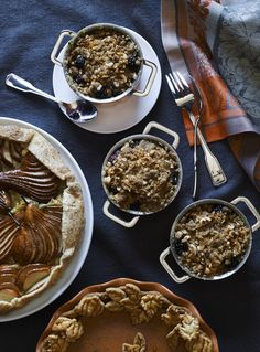 To amp up the flavor of the classic apple crisp, we add in brown butter, which lends a rich, nutty taste. Bake the crisp in mini cocottes or, if you prefer, in a single baking dish.
