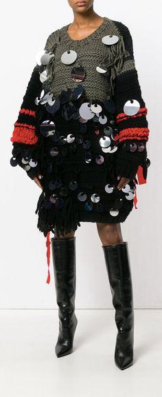 PORTS 1961 oversized sequin sweater dress, explore new season now on Farfetch.