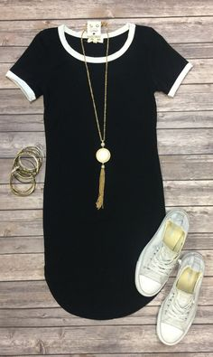 Game Changer Tunic Dress: Black from privityboutique