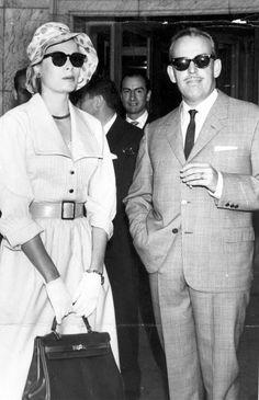 Princess Grace and Prince Rainier of Monaco in Madrid.