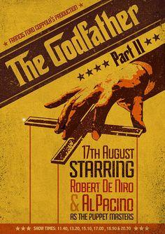 Re-imagined Robert De Niro Movie Posters by Original Penguin