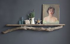 Extra Long Natural Driftwood Shelf  Perfect Mantle by OceanSwept, $225.00