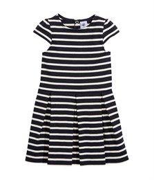 Robe marinière fille bleu Abysse / beige Coquille. Retrouvez notre gamme de vêtements et sous-vêtements pour bébé, enfant, mode femme et homme.