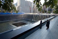 The Obama's and Bush's in New York on 9-11-2011 at the Memorial Pool