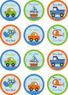 Transportation Car Boat Truck Airplane Boys by LittlePrintsParties, $5.00