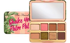 Create any look with rich neutrals in matte, shimmer and pearl finishes with the Too Faced Peaches and Cream Shake Your Palm Palms Eyeshadow palette. Too Faced Eyeshadow Palette Too Faced, Too Faced Palette, Peach Eyeshadow, Eyeshadow Tips, Blending Eyeshadow, Makeup Palette, Contour Palette, Glitter Eyeshadow, Too Faced Lidschatten