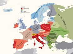 """""""Europe According to The Vatican"""" - Funny map illustration by Bulgarian modern artist Yanko Tsvetkov. Mystery Of History, Art History, Country Names, Historical Maps, Creative Pictures, City Maps, Modern Artists, Cartography, Geography"""