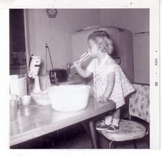 I remember when you could lick the beaters, and we never freaked out or got sick because there were raw eggs in the batter.