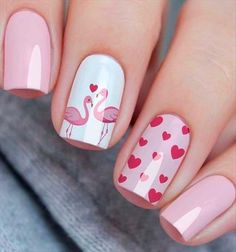 54 Simple Spring Nail Designs for Short Nails and Long Nails 54 Simple Spring Nail Designs for Short Nails and Long NailsIs it a little aesthetic fatigue to have a dark color nails for a winter? Cute Spring Nails, Spring Nail Colors, Cute Nails, Pretty Nails, My Nails, Valentine's Day Nail Designs, Short Nail Designs, Nail Designs Spring, Art Designs