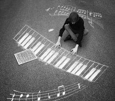 Chalkboard keyboard