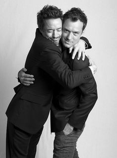 Jude Law & Robert Downey Jr. world's best bromance :)