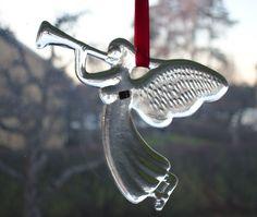 Bertil Vallien, Kosta Boda, Swedish Crystal Glass Angel Suncatcher by DeeGeeRetro on Etsy