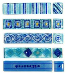 Decoración de baños/ GUARDAS EN VITRO Color Azul - Decoractual - Diseño y Decoración Fused Glass, Stained Glass, Glass Candle Holders, Ocean Waves, Suncatchers, Glass Art, Decoupage, Diy And Crafts, Projects To Try