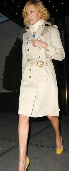 Charlize Theron Double Breasted Trench Coat 63a5c1f115