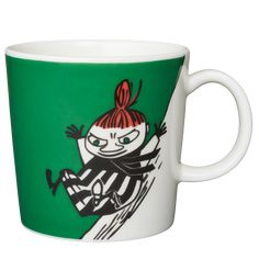 "Moomin mug "" Little My on the slide"" Moomin Mugs, Tove Jansson, Little My, Tableware, Collections, Dishes, Decorating, Mugs, Decor"