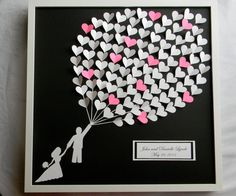 Large wedding guest book alternative 3D paper by PrettyProposal, $169.00 I'd be okay with this, too. :) Adorable.