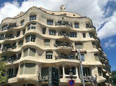 La pedrera Casa Mila von Antonio Gaudi in Barcelona