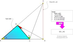 Geometry Problem 912: Right Triangle, Double Angle, Triple Angle, Perpendicular Lines. Level: High School, College, Mathematics Education