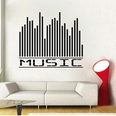 Music Equalizer Wall Decal Part 51