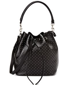 Saint Laurent Medium Studded Bucket Bag