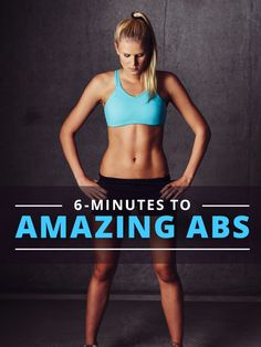 6 Minutes to Amazing Abs - We've created a quick ab workout to hit all of the major areas in your core, but also deliver a burn in a short amount of time. #amazingabs #coreworkout #workouts