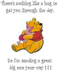 Love & hug Quotes : Winnie the Pooh - Quotes Sayings Cute Winnie The Pooh, Winne The Pooh, Winnie The Pooh Quotes, Winnie The Pooh Friends, Eeyore Quotes, Hug Quotes, Funny Quotes, Disney Quotes, Good Morning Quotes