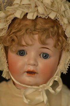 "18"" BEAUTIFUL ANTIQUE GERMAN--B5--BISQUE DOLL--ORIGINAL OUTFIT"