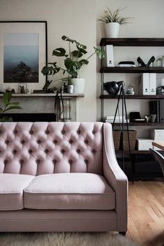 Behind the scenes at the Sofa & Chair Company, and the process of bespoke ordering a pink sofa.