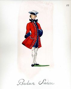 French Army 1735 - Infantry Regiment Bettens Suisse, by Gudenus.