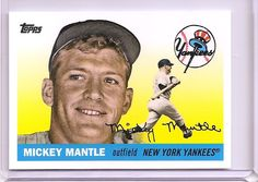 This Photo was uploaded by The Mick, Mickey Mantle, Custom Cards, New York Yankees, Growing Up, Mlb, Legends, Baseball Cards, Sports