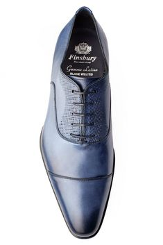 c5189e84721 The Venezia Blue oxford shoe is considered as one of the most elegant shoe  of the Finsbury s range and will provide a chic and refined look.