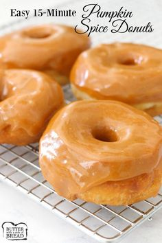 15-MINUTE PUMPKIN SPICE DONUTS- embrace fall with these simple & delicious donuts! So easy to make too. Butter With A Side of Bread
