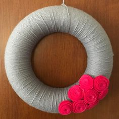"""(@my_patchwork_place) on Instagram: """"#wreaths #spring #handmade #handcrafted #instaphoto #instapicture #grey #fuchsia…"""""""