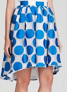 Polka dot flirty skirt