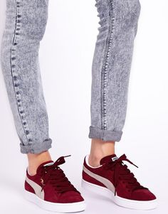 7 Pairs of Sneakers Every Fashion Girl is Coveting: Classic Burgundy Pumas | Her Campus