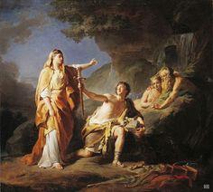 Teseo y Etra. 1769. Nicolas individuo Brenet. Francés. 1728-1792. óleo / tela.