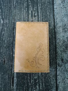 Handmade Tan Leather Pocket Memo Journal Cover by CSherwoodLeather
