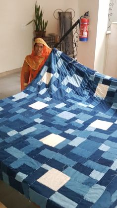 work for women + khadi hand spun, hand woven cotton + natural dyes+ hand stitch + re-purposing textile waste Waste not, Want not Series Quilts. Local Women, Color Balance, Woven Cotton, Hand Spinning, Types Of Art, Repeating Patterns, Dyes, Hand Stitching, Hand Weaving