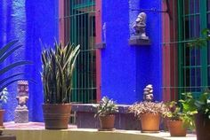 Mexican style decor Vibrant Blue