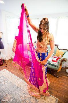 Indian bride getting ready for wedding ceremony http://www.maharaniweddings.com/gallery/photo/118944