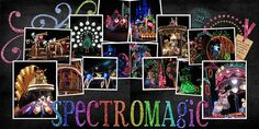 """I love the glitter lettering and frames and how the colors pop against the black. It captures perfectly the effect of the """"electrical lights"""" of the parade!"""