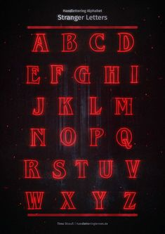 After the season finale, I absolutely had to read the Stranger Things alphabet . - After the season finale, I absolutely had to type the Stranger Things alphabet. Stranger Things Font, Letras Stranger Things, Stranger Things Alphabet, Stranger Things Merchandise, Stranger Things Netflix, Bullet Journal Banner, Bullet Journal Ideas Pages, Bullet Journal Inspiration, Lettering Brush