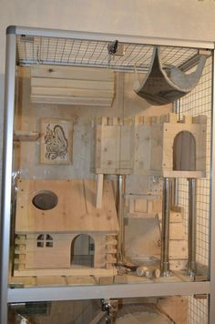 / Cage for Chinchillas Hamster Life, Hamster Habitat, Hamster House, Cage Chinchilla, Ferret Cage, Pet Rat Cages, Pet Cage, Pet Rodents, Indoor Rabbit