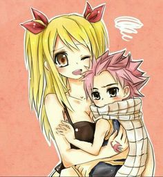 Lucy and little Natsu<3 Fairy Tail. :)
