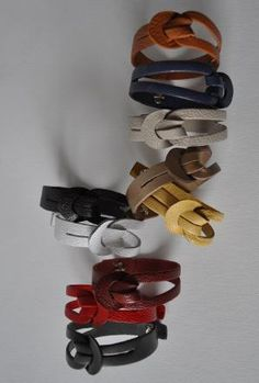 Leather bracelets in just about every color.